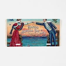 Hands Across The Sea Aluminum License Plate