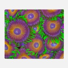 Zoanthid colony Throw Blanket