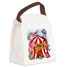 The Circus is in Town Canvas Lunch Bag