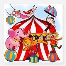 """The Circus is in Town Square Car Magnet 3"""" x 3"""""""