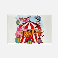 The Circus is in Town Rectangle Magnet