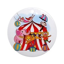 The Circus is in Town Ornament (Round)