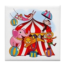 The Circus is in Town Tile Coaster