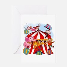 The Circus is in Town Greeting Card