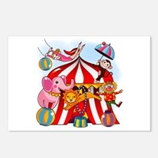 The Circus is in Town Postcards (Package of 8)