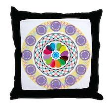 Abstract Mandala-Ornament Throw Pillow