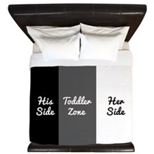 His Side Toddler Zone Her Side King Duvet