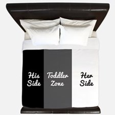 His Side Toddler Zone Her Side King Duvet
