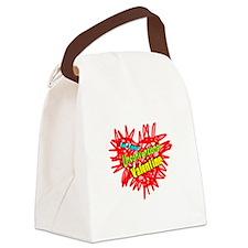 Unconventional Valentine Canvas Lunch Bag