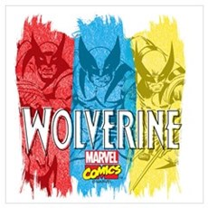 Wolverine Paint Wall Art Poster
