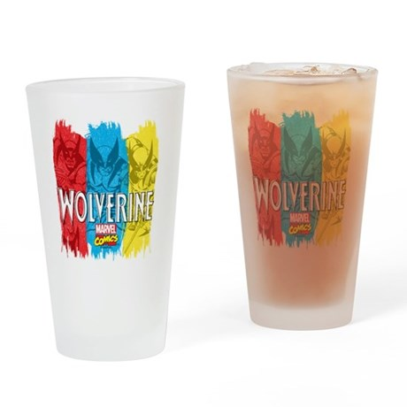Wolverine Paint Drinking Glass