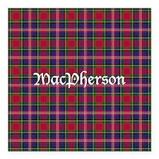 "Tartan - MacPherson Square Car Magnet 3"" x 3"""