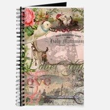 Marriage Collage Vintage Wedding Floral Journal