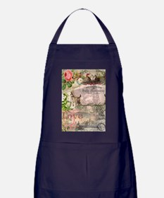Marriage Collage Vintage Wedding Floral Apron (dar