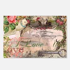 Marriage Collage Vintage Wedding Floral Postcards