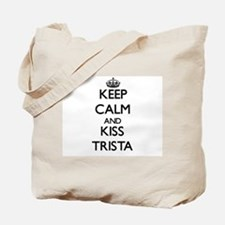 Keep Calm and kiss Trista Tote Bag