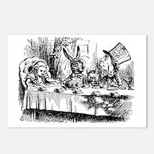 Alice In Wonderland Tea P Postcards (Package of 8)