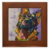 German shepherd Framed Tiles