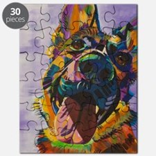 German Shepherd Pup Art Puzzle