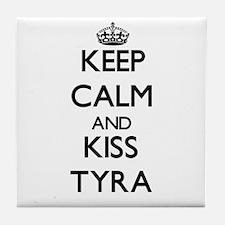 Keep Calm and kiss Tyra Tile Coaster