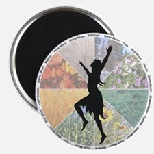 Dancing the Wheel of the Year Magnet