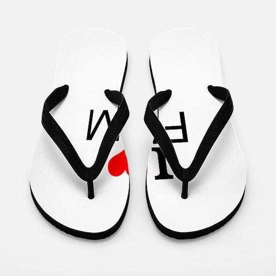 I Love Film Flip Flops