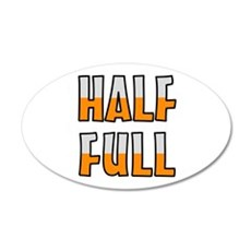 HALF FULL Wall Decal