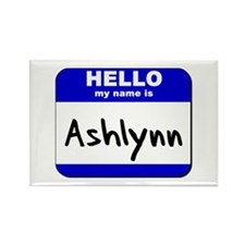hello my name is ashlynn Rectangle Magnet