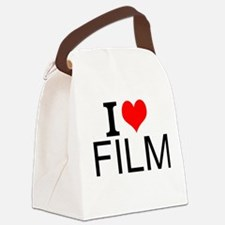 I Love Film Canvas Lunch Bag