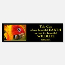 """Take care of beautiful Earth"".. Bumper Bumper Bumper Sticker"