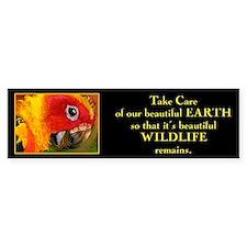 """Take care of beautiful Earth"".. Bumper Bumper Sticker"