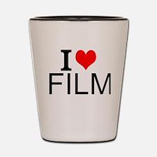 I Love Film Shot Glass