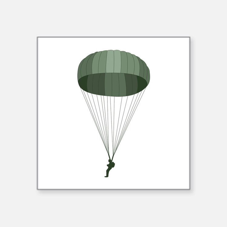 Airborne Paratrooper Sticker