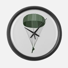 Airborne Paratrooper Large Wall Clock