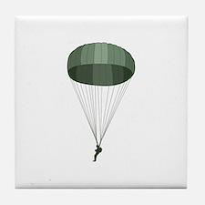 Airborne Paratrooper Tile Coaster