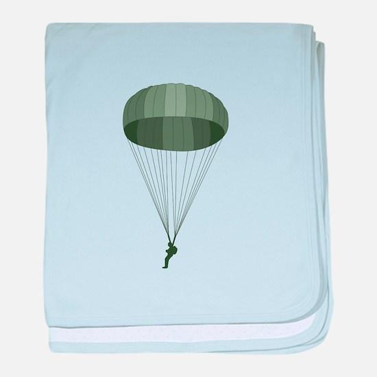 Airborne Paratrooper baby blanket