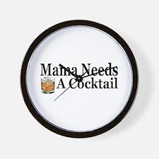 Mama Needs a Cocktail II Wall Clock