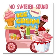 "The Ice Cream Truck Square Car Magnet 3"" x 3"""