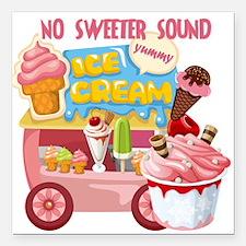 "The Ice Cream Truck Square Car Magnet 3"" x 3"""