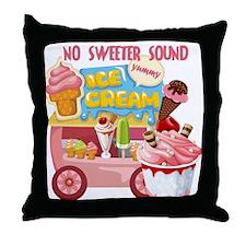 The Ice Cream Truck Throw Pillow