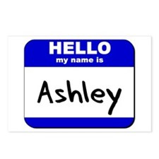 hello my name is ashley  Postcards (Package of 8)
