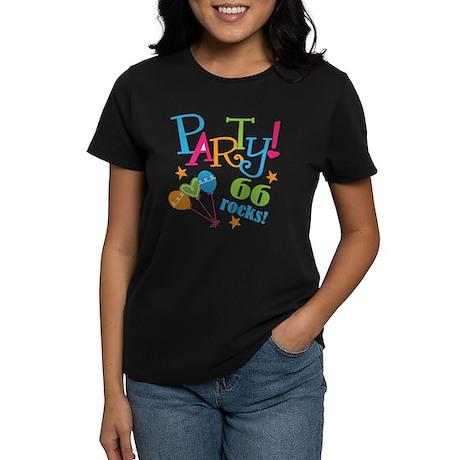 66th Birthday Party Women's Dark T-Shirt
