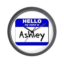hello my name is ashley  Wall Clock
