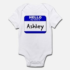 hello my name is ashley  Infant Bodysuit