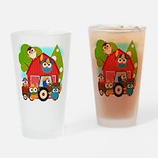 Owl Farmers Drinking Glass