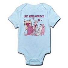 Life's Better With Cats Infant Bodysuit
