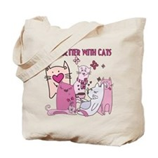 Life's Better With Cats Tote Bag