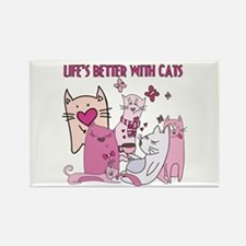 Life's Better With Cats Rectangle Magnet
