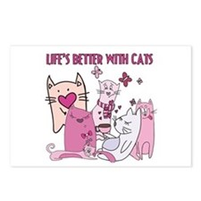 Life's Better With Cats Postcards (Package of 8)