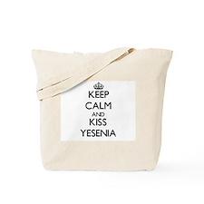 Keep Calm and kiss Yesenia Tote Bag